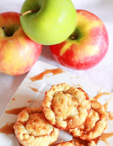 Mini Salted Caramel Apple Pies by Bits of Sweetness